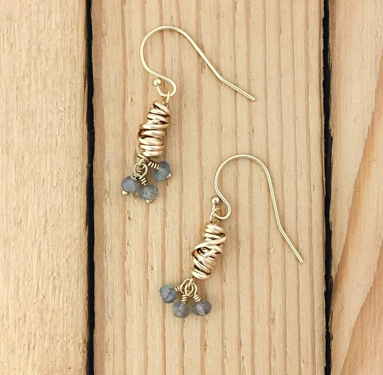 Dianne Rodger Dianne Rodgers Gold Lab Earrings
