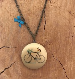 Liberty & Love Liberty & Love Locket- Bunny Bike