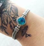 Sarda Carribean Quartz Toggle Bracelet