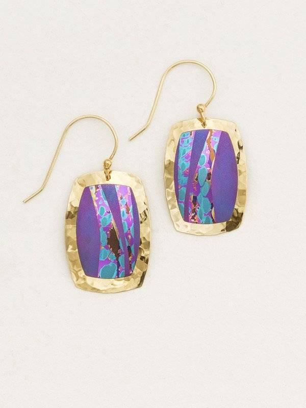 Holly Yashi Purple Pacific Earring