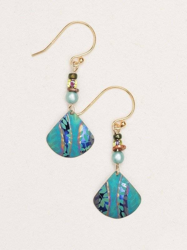 Holly Yashi Teal Painterly Earring
