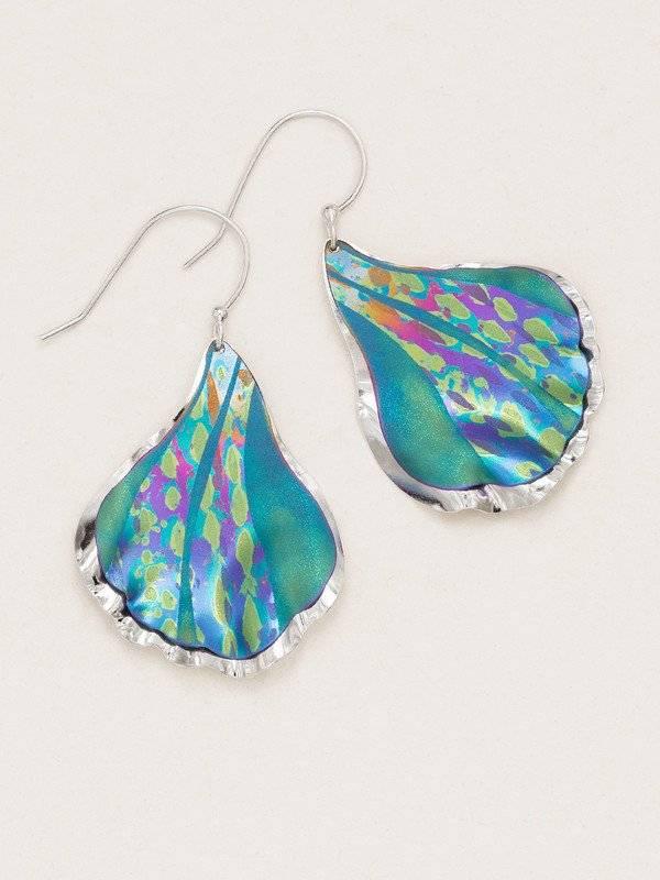 Holly Yashi Teal Mermaid Tale Earring