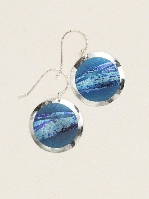 Holly Yashi Blue Open Sea Earring