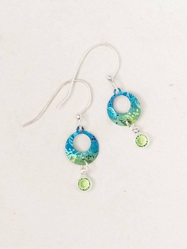 Holly Yashi Petite Sparkle Leaf Print Earrings