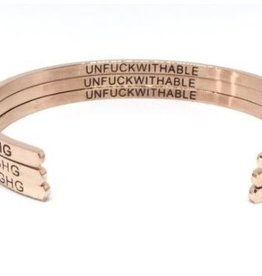 Glass House Goods Inner Voice Bangle: Unfuckwithable Rose Gold