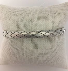 M Style Sterling Silver Braided Bangle