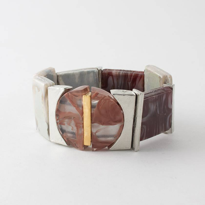 Anne Marie Chagnon Silene Rose Clay Bracelet