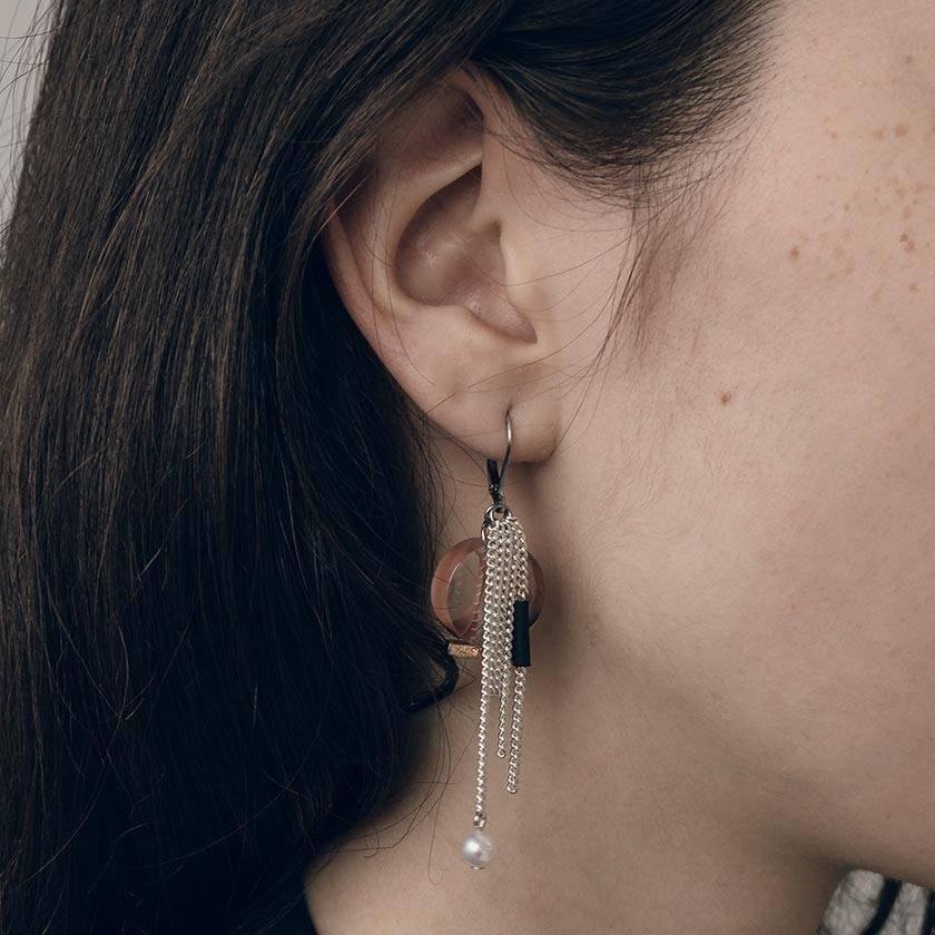 Anne Marie Chagnon Seleni Earring- Rose Clay