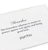 "Pyrrha Pyrrha 14K Gold Diamond Set- Horseshoe -18"""