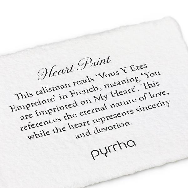 Pyrrha Pyrrha 14K Heart Print Talisman Chain Bracelet