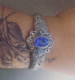 Sarda Mystic Quartz & Swiss Blue Topaz Bracelet