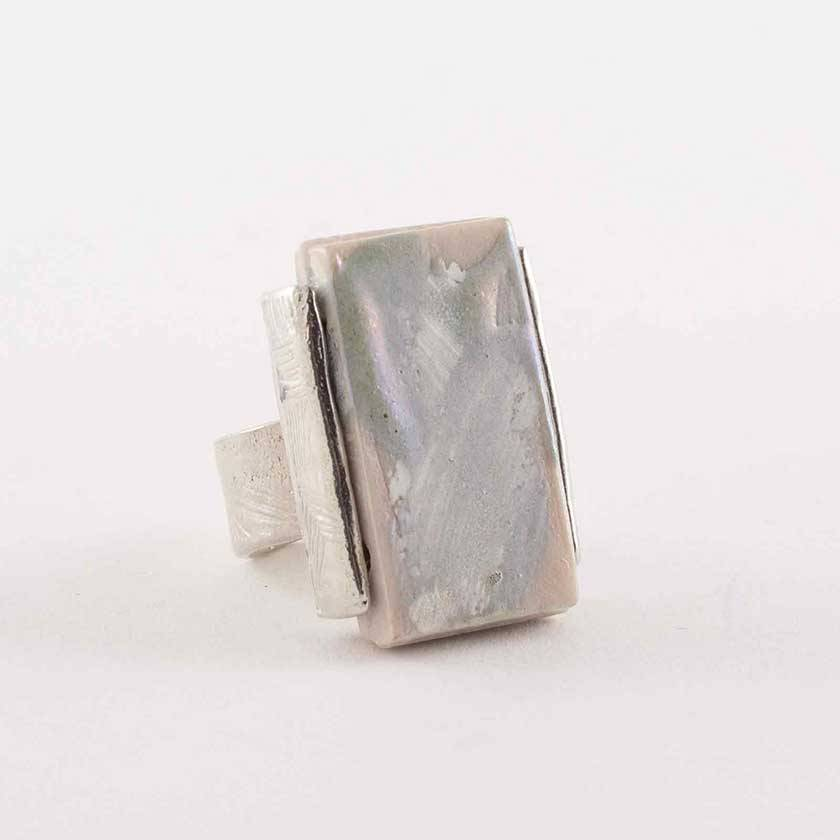 Anne Marie Chagnon Sako Ring- Silvery (Adjustable)