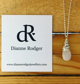 Dianne Rodger Small Petal Necklace- Moonstone 18""