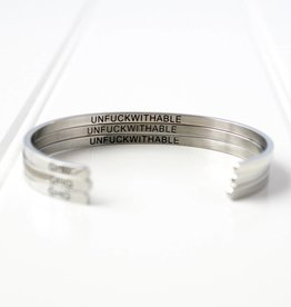 Glass House Goods Inner Voice Bangle: Unfuckwithable