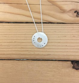 Andrea Waines Sm Halo Necklace: Stay Wild & Free
