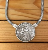 """Shablool Sterling Silver Tree of Life Medallion on 17"""" Chain"""