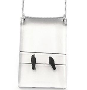 Black Drop Designs Black Drop-Tall 2 Crows Necklace