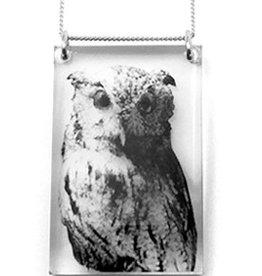 Black Drop Designs Black Drop-Tall Owl Necklace