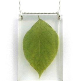 Black Drop Designs Black Drop-Tall Leaf Necklace
