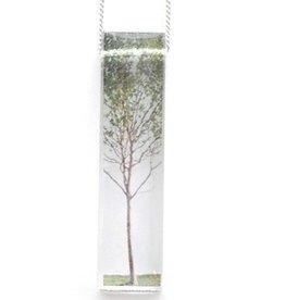 Black Drop Designs Black Drop-Skinny Green Tree Necklace