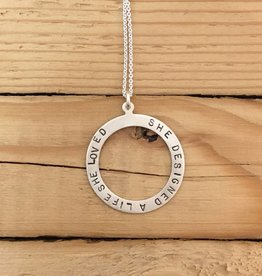 Andrea Waines Large Halo She Designed a Life She Loved necklace