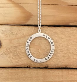 Andrea Waines Large Halo- Nevertheless She Persisted necklace