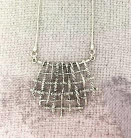 """Shablool Sterling Wire Weave Pendant on 18"""" Chain"""