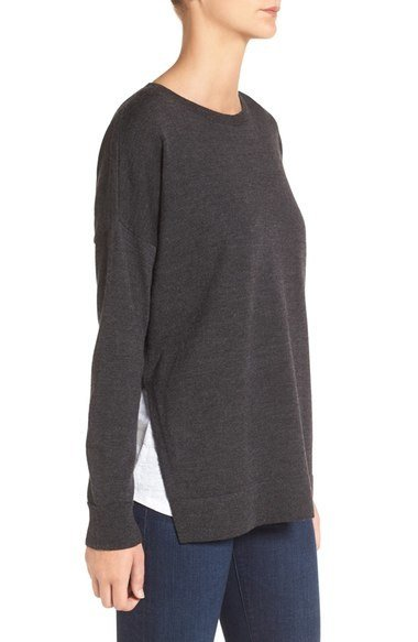 Eileen Fisher Eileen Fisher Wool Jersey Bateau Neck Sweater