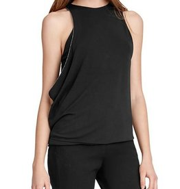 Halston Heritage Halston Heritage Chain Trim Draped Top
