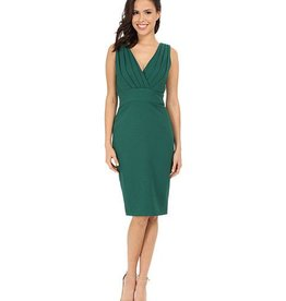 Badgley Mishka Badgley Mischka Pleated Front Sheath Dress