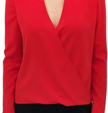 Donna Degnan High Neck Faux Wrap Top