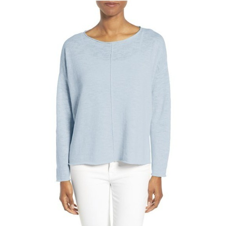 Eileen Fisher Linen-Blend Poncho Top