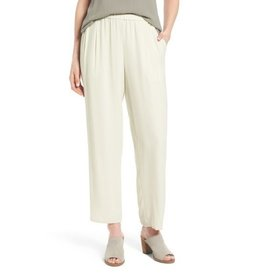 Eileen Fisher Silk Georgette Crepe Straight Ankle Pant