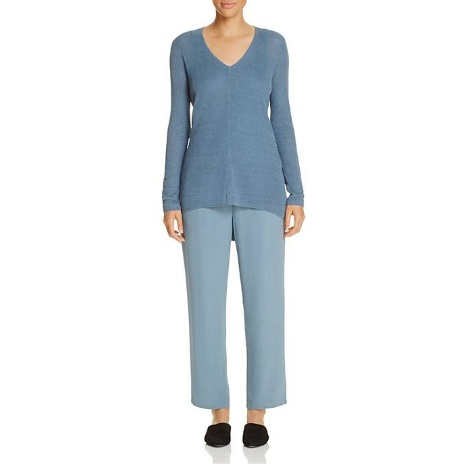Eileen Fisher V-Neck High/Low Sweater