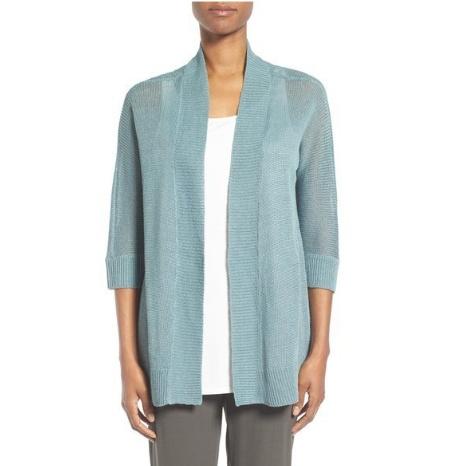Eileen Fisher Organic Linen Kimono Cardigan