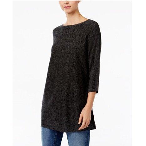Eileen Fisher 3/4 Sleeve Bateau Neck Sweater
