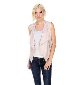 My Tribe Fold Collar Zip Vest