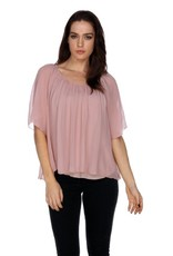 My Tribe My Tribe Silk Georgette Peasant Blouse
