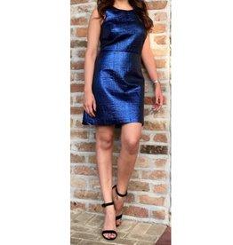 Milly Lurex Jacquard Slim Shift Dress