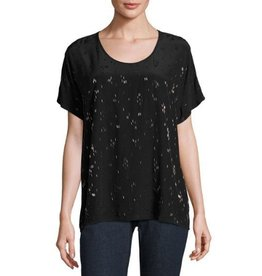 Eileen Fisher Eileen Fisher Falling Star Beaded Silk Tee
