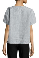 Eileen Fisher Eileen Fisher Yarn-Dyed Organic Linen Top