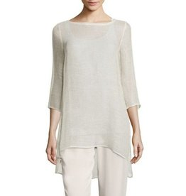 Eileen Fisher Eileen Fisher Organic Linen Mesh 3/4-Sleeve Tunic