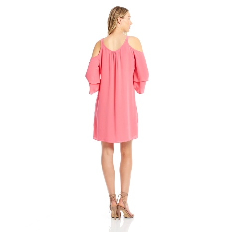 Ecru Ecru Cold Shoulder Dress