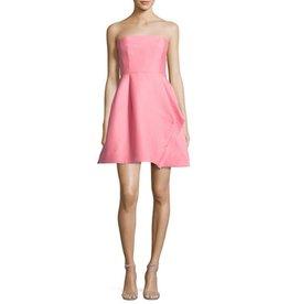 Halston Heritage Strapless Silk Faille Dress
