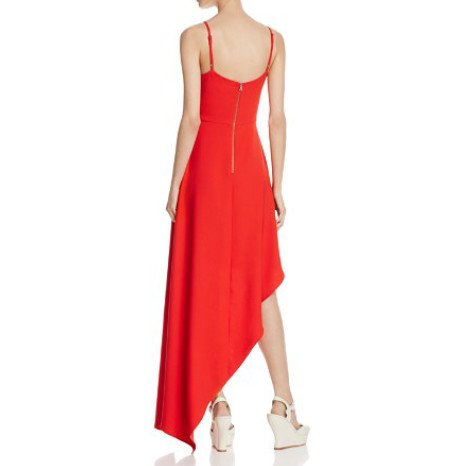 Alice & Olivia Alice & Olivia Naoma Long Assymetrical Hem Dress