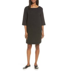 Eileen Fisher Eileen Fisher Organic Cotton Gauze Bateau Neck Dress
