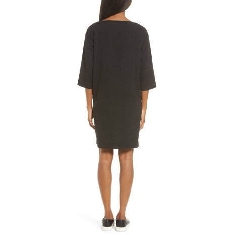 Eileen Fisher Eileen Fisher Organic Cotton Gauze Bateau Neck Dress