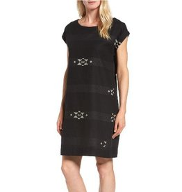 Eileen Fisher Eileen Fisher Folklore Cotton Jacquard Bateau Neck Dress