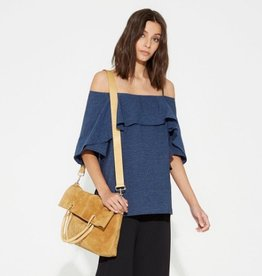 Halston Heritage Halston Flowy Sleeve Cold Shoulder Top