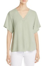 Eileen Fisher Eileen Fisher Silk Georgette Crepe V-Neck Top